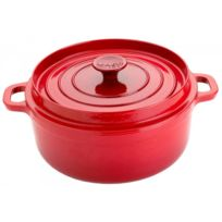 INVICTA - cocotte ronde en fonte émaillée 32cm rouge - 302320 rubis
