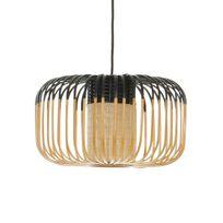 Forestier - Bamboo - Suspension d'extérieur Bambou/Noir H23cm - Luminaire d'extérieur designé par Arik Levy