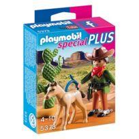 Playmobil - 5373-Cow-boy avec poulain - Spécial Plus