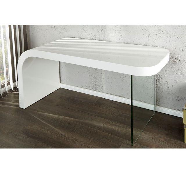 CHLOE DESIGN Bureau design Marika - blanc - 140