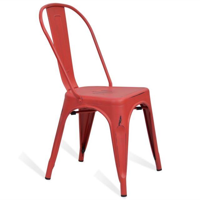 chaise rouge vintage. Black Bedroom Furniture Sets. Home Design Ideas