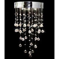 Destockoutils - Lustre suspendu cristal 180 pièces 3 ampoules