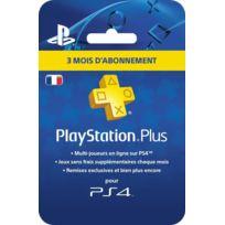 SONY - Carte Playstation Plus - Abonnement 3 mois