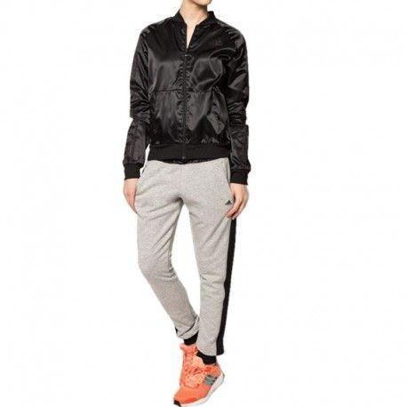 Adidas originals - Survêtement satiné Youngwoven Entrainement noir Femme  Adidas 501f729f67a