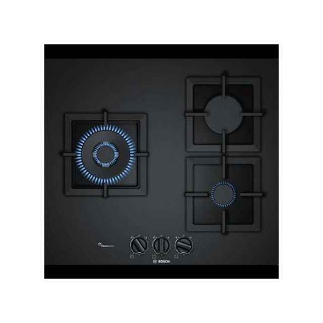Bosch Plaque au gaz PPC6A6B20 60 cm Noir 3 cuisinière