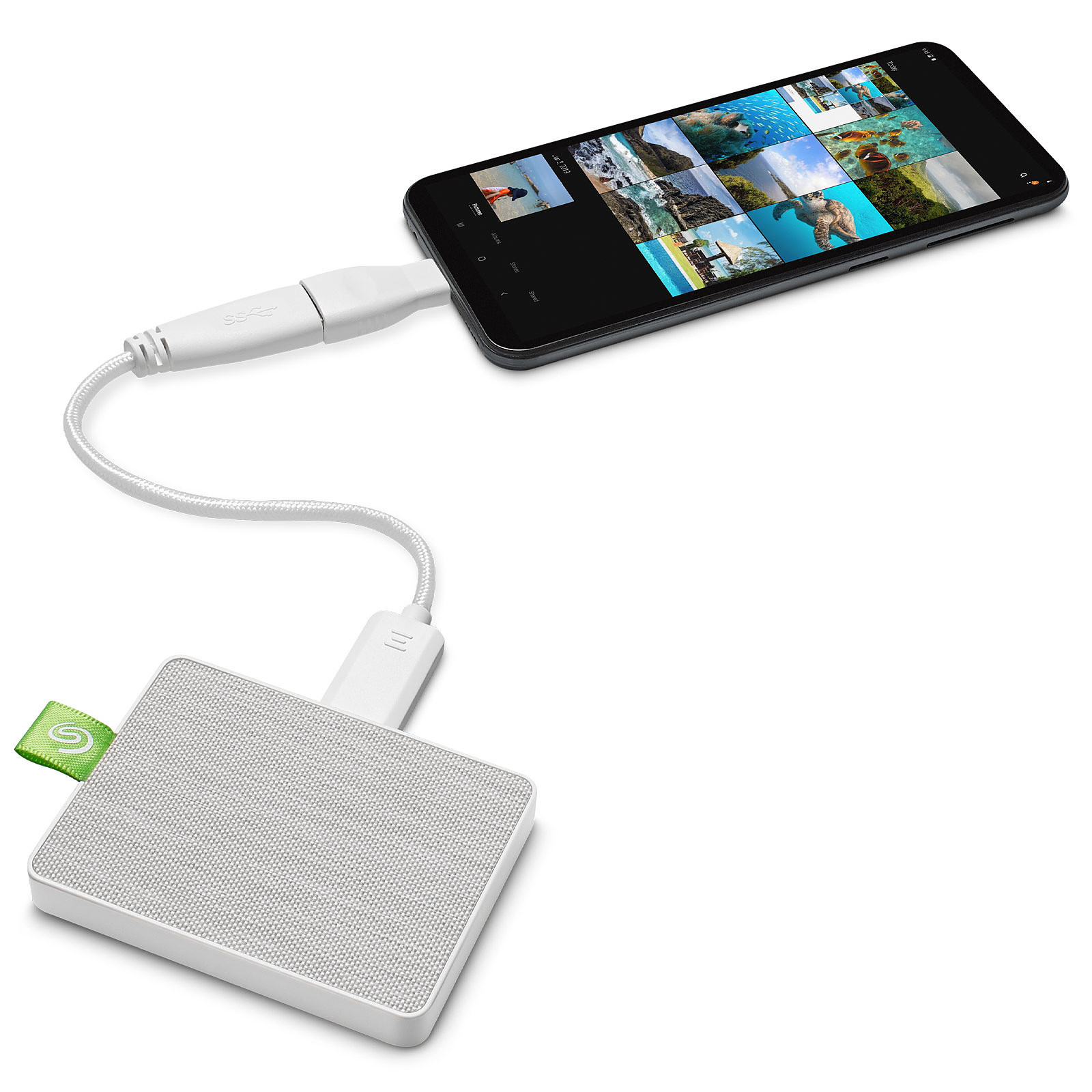 Disque dur externe Ultra Touch SSD 1 TB Seagate Blanc
