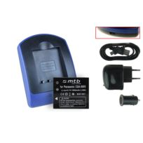 mtb more energy® - Batterie + Chargeur USB, Cga-s005 pour 3M Mpro 110 Micro Projector