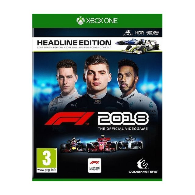f1 2018 jeu xbox one achat jeux xbox one course. Black Bedroom Furniture Sets. Home Design Ideas
