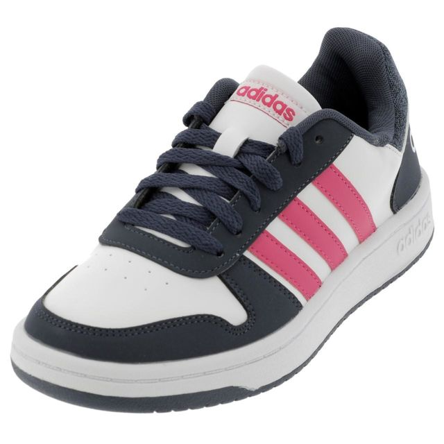 sneakers for cheap 0f6e4 668cf Adidas Neo - Chaussures mode ville Adidas neo Hoops blc rose jr Blanc 39105