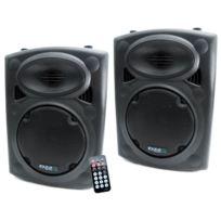 Ibiza Sound - Enceinte amplifiée 200 W + enceinte passive 250 W