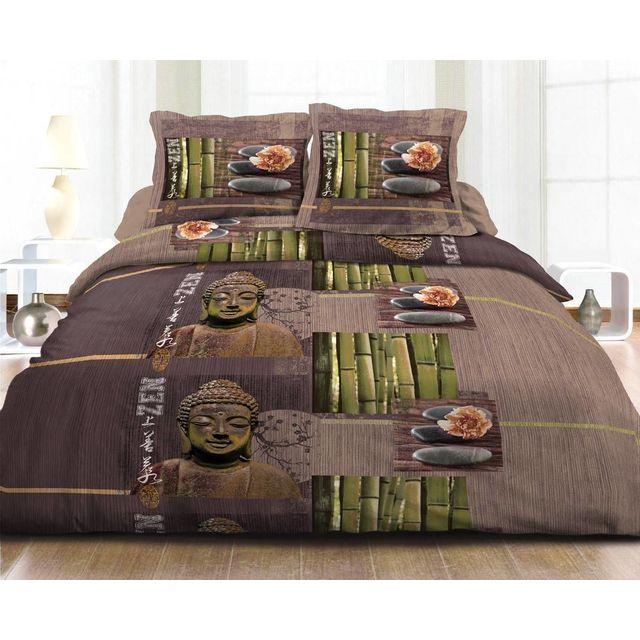 le linge de jules parure drap plat drap housse 140x190 2 taies pur coton 57 fils zen. Black Bedroom Furniture Sets. Home Design Ideas