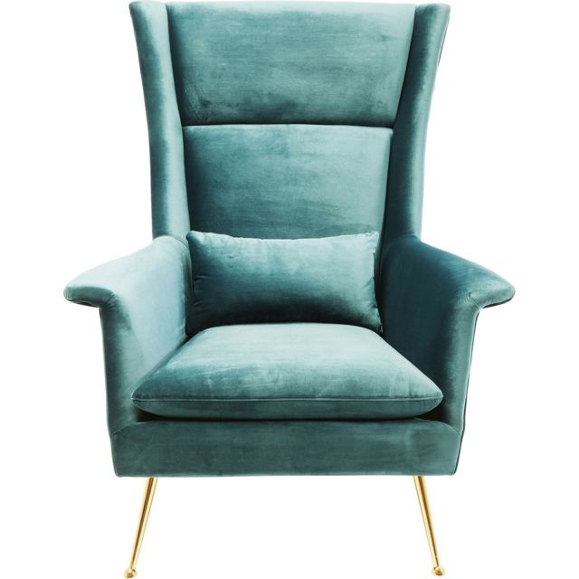 Karedesign Fauteuil Vegas Forever bleu-vert Kare Design