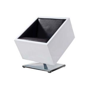 MILIBOO Fauteuil Chaise Design Noir Et Blanc SQUARE BOX Pas - Chaise design