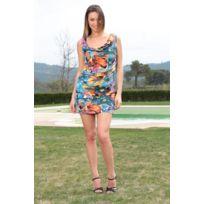 Dresscode - Dress Code Robe Love Look 1553 Bleu - 1 acheté = 1 offert