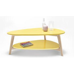bobochic table basse scandinave jaune 92cm x 37cm x 50cm pas cher achat vente tables. Black Bedroom Furniture Sets. Home Design Ideas