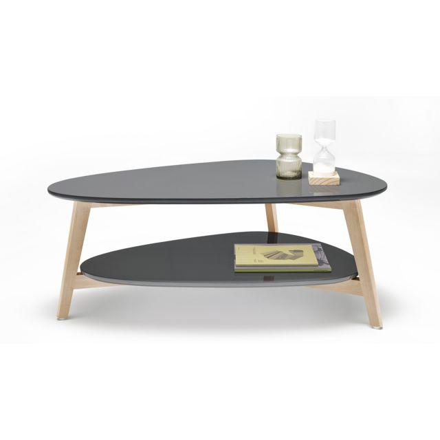 Bobochic Table Basse Scandinave Gris Pas Cher Achat Vente