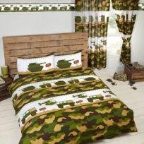 camouflage linge de lit Home   Parure de lit double Camouflage Militaire Multicolore  camouflage linge de lit
