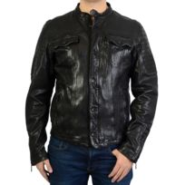 1e55ca88216b veste cuir homme metal - Achat veste cuir homme metal pas cher - Rue ...