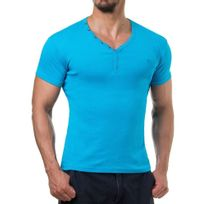 Young And Rich - T shirt homme fashion T shirt 873 bleu turquoise