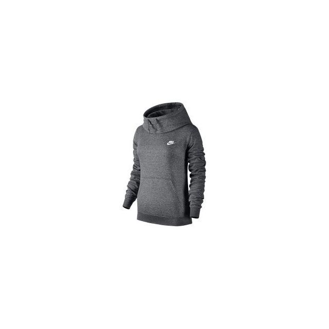 22ff3e4cfca4d Nike - Sweat-shirt Sportswear Funnel-Neck gris femme - pas cher Achat /  Vente Veste homme - RueDuCommerce