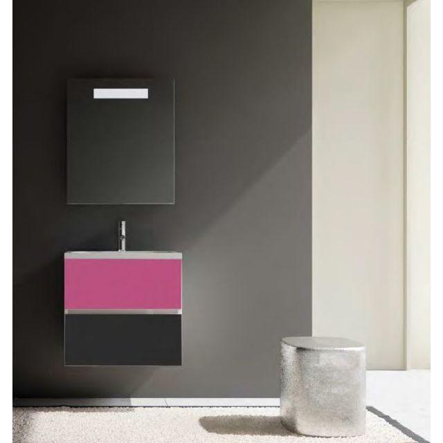 Riho Ensemble meuble & lavabo Cambio Comodo Set 03 en bois laqué brillant 60x46x H 57 cm