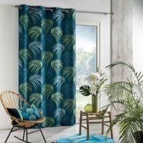Douceur dInt/érieur DOUNIA Rideau /à /Œillets Polyester Bleu 260 x 140 x 0,1 cm