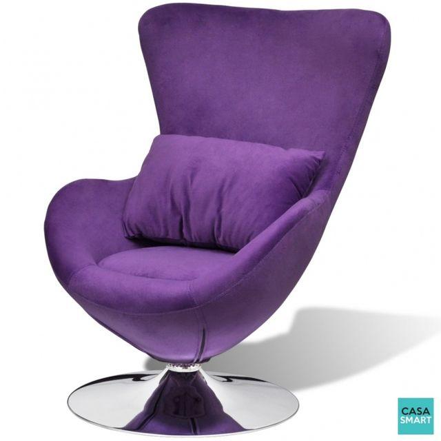 Casasmart Seabrook fauteuil pivotant violet