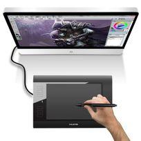 Yonis - Tablette graphique 10 pouces numérique stylet sans fil Usb Noire