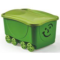 MONDEX - SMILE - Coffre de rangement à roulettes - 47.5 L - Vert - PLS 558-21