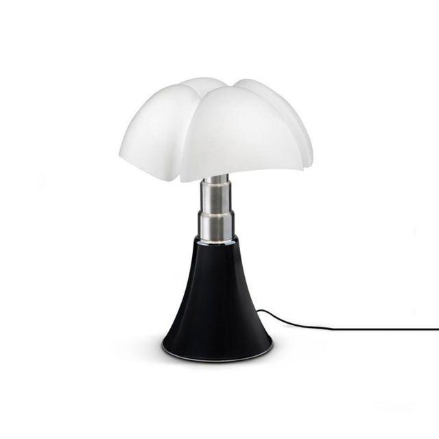 Martinelli Luce Mini Pipistrello-lampe Dimmer Touch Led H35cm Noir - designé par Gae Aulenti