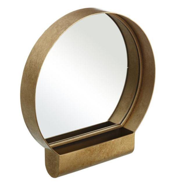 Tousmesmeubles Miroir rond Métal doré - Mombin