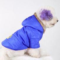 Wewoo - Vêtements bleu foncé chien brodé d'automne et d'hiver de d'animal familier épaississent le vêtement chaud de coton Taille: Xxs, buste: 25-30cm, cou: 17-21cm