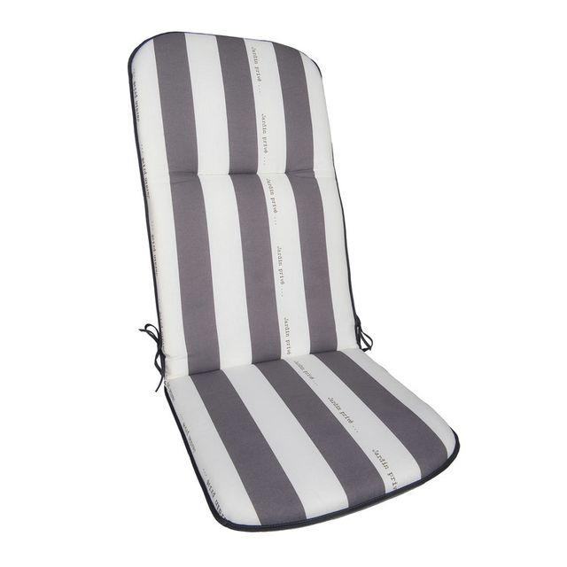 jardin prive coussin pour fauteuil de jardin multiposition 100 coton ray 117x46cm cancale. Black Bedroom Furniture Sets. Home Design Ideas