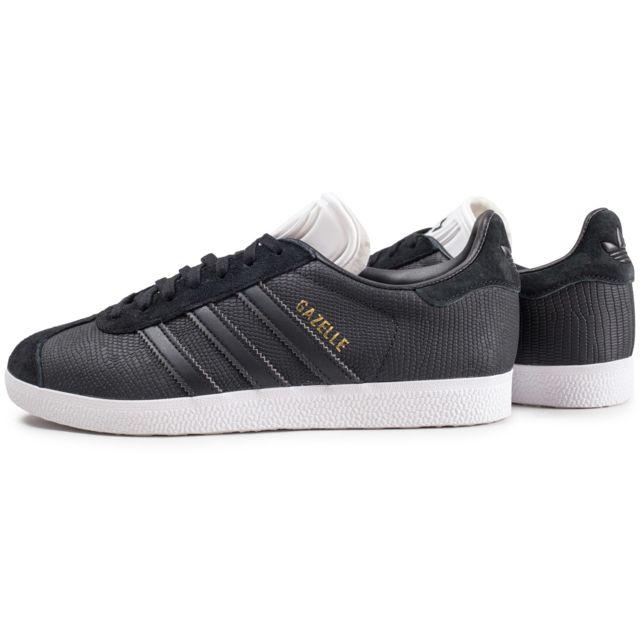 Adidas Gazelle Croco Noire Femme pas cher Achat Vente