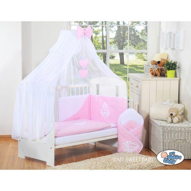 marque generique lit et parure de lit b b compl te glamour rose 120 60 pas cher achat. Black Bedroom Furniture Sets. Home Design Ideas