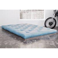Inside 75 - Matelas Futon Confort bleu celeste 120 200 15cm