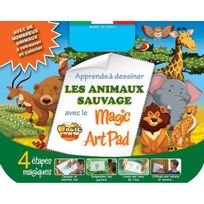 No Name - Magic Sticky Art Pad Animaux Sauvage Avec 4 Stylos