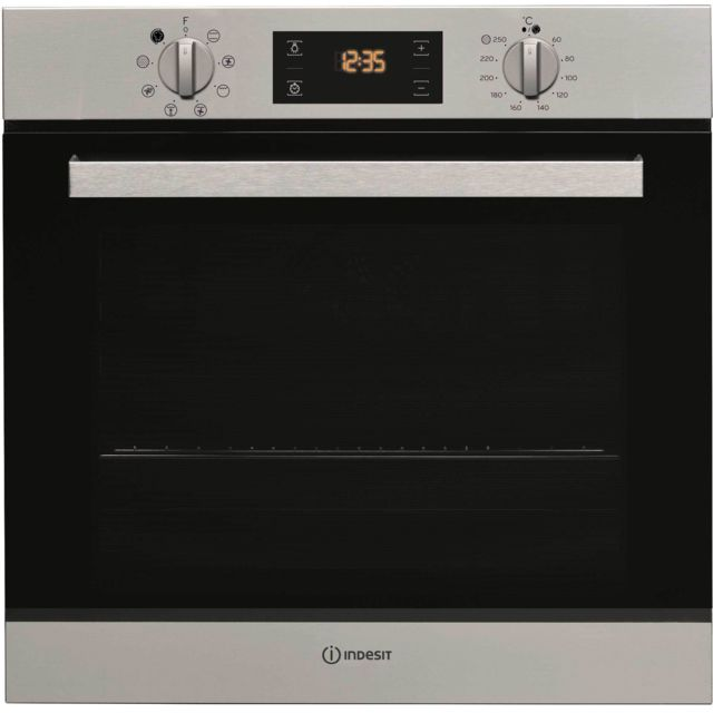 Indesit four intégrable multifonction 66l 56cm a pyrolyse inox - ifw6540pix