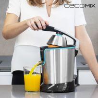Cecomix - Presse-Agrumes Électrique à Levier Adjust Black 4077 160W Acier