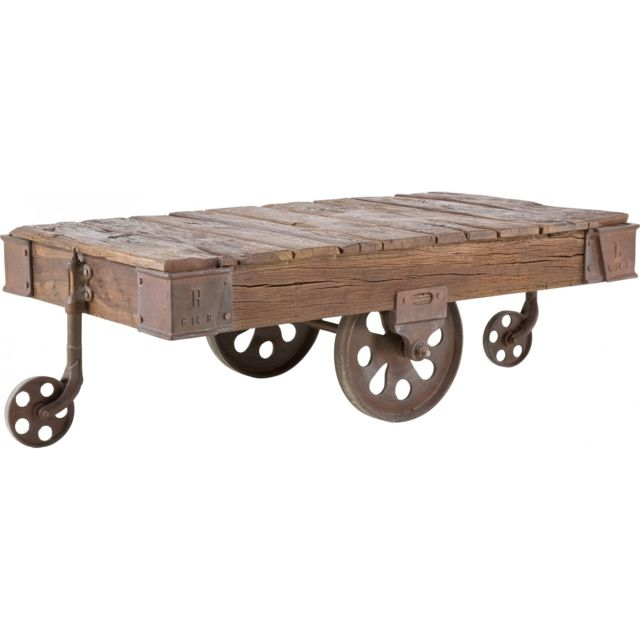 Karedesign Table Basse en bois Railway 135x80 cm Kare Design
