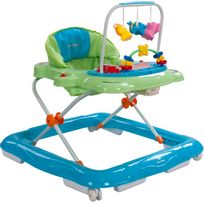 Sun Baby - Trotteur interactif jouets sons lumières bébé 6-12 mois Petit Chat | Vert et Bleu