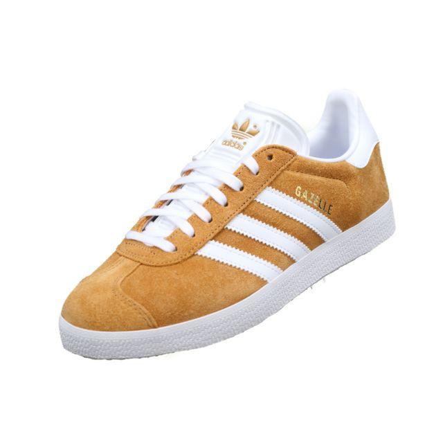 Adidas - Gazelle B41653 Moutarde Jaune - pas cher Achat ...