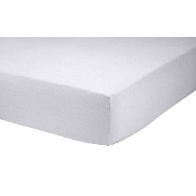 tex home drap housse vincennes en coton gris 160cm x 200cm pas cher achat vente draps. Black Bedroom Furniture Sets. Home Design Ideas
