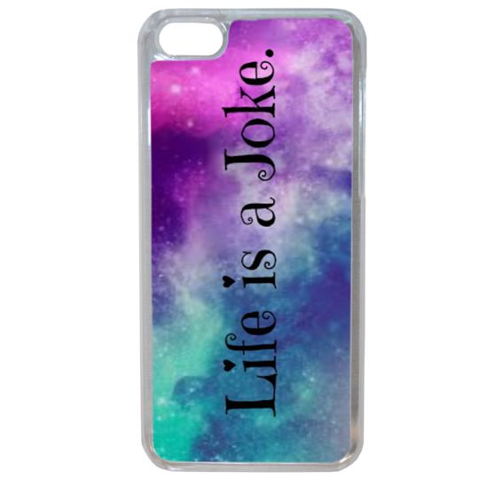 Lapinette - Coque Rigide Life Is A Joke Galaxie Pour Apple Iphone 8 Plus