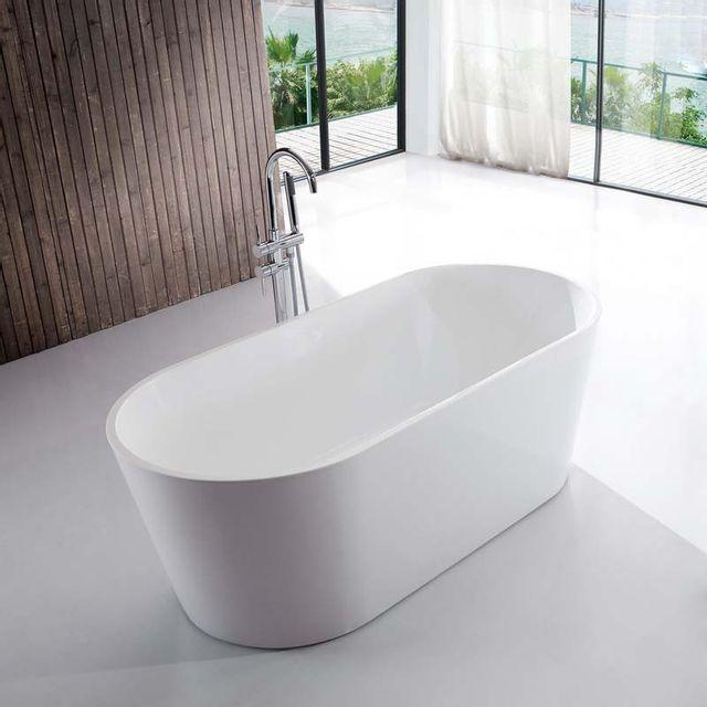 rue du bain baignoire ilot ovale acrylique blanc. Black Bedroom Furniture Sets. Home Design Ideas