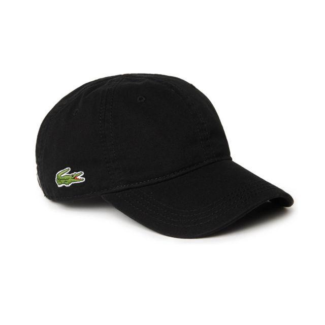Lacoste - homme - Casquette Noir Rk9811 - Taille vêtements - Unique Taille  unique - pas cher Achat   Vente Casquettes, bonnets, chapeaux -  RueDuCommerce e4f0532bc61
