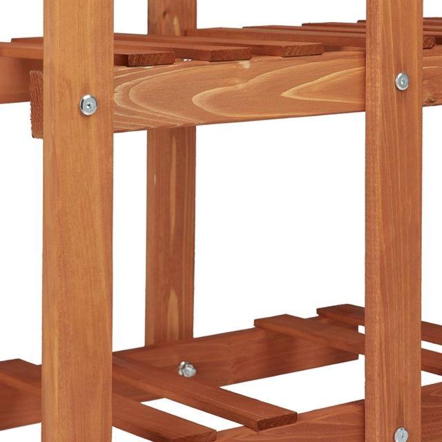 Helloshop26 - Etagère à fleurs en bois escalier pour plantes 5 niveaux marron clair 2213013
