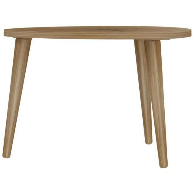 BOUT DE CANAPE NATURE Table basse triangulaire scandinave effet tronc d'arbre - L 60 x l 60 cm