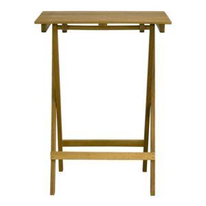 Alinéa - Dexter Table haute d\'appoint pliante naturelle en acacia 2 ...