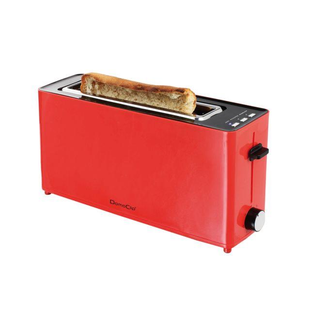 DOMOCLIP Grille-pain large fente rouge DOD146R